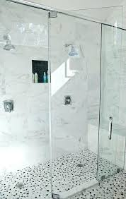 shower floor tiles non slip uk river rock transitional bathroom side by his and her heads