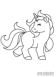 Cute My Little Unicorn Coloring Page Print Color Fun For Printable