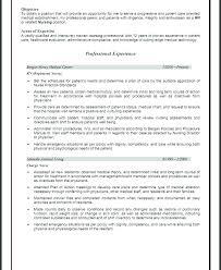 Nurse Resume Objective Objective Nursing Assistant Resume Objective