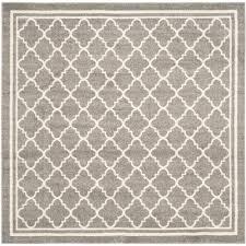 safavieh amherst dark gray beige 7 ft x 7 ft indoor outdoor