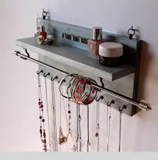 Hanging Necklace Organizer Interesting Diy Wallmounted Earring Storage Diybijius
