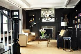 view in gallery black library with black trim
