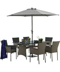 patio table and 6 chairs: buy havana  seater patio set grey at argoscouk visit argoscouk to shop online for garden table and chair sets