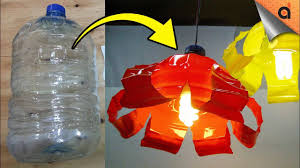 Simple Diy Lamp Made Of Plastic Bottle