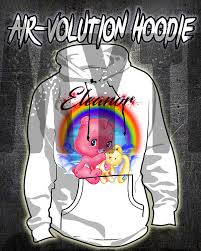 Amazon Com Personalized Airbrush Care Bear Hoodie Handmade