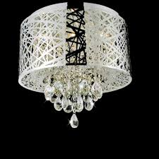 chair marvelous flush ceiling crystal chandeliers 1 0000860 16 web modern laser cut drum shade round