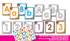 Kindergarten Alphabet Cards Free Printable Alphabet Mini Flash