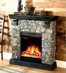 electric fireplace with stone surround diy electric fireplace stone surround