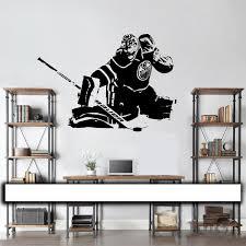 hockey goalie wall decal wall art vinyl sticker edmonton oilers cam talbot player silhouette home decor x perfect wall decor edmonton