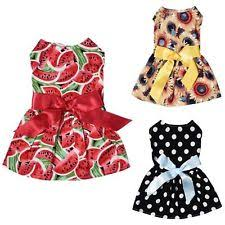 Cute <b>Small Pet Dog Clothing</b> Cat Bow Dress Princess Party Skirt ...