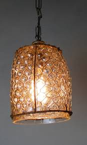hand blown glass cottage chic honeycomb pendant chandelier vintage style the kings bay