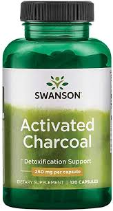 Swanson <b>Activated Charcoal</b>, Detox Support Supplement <b>260</b> mg ...
