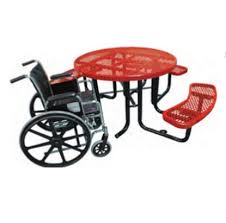 s tagged with ada round picnic tables commercial thermoplastic expanded metal
