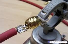diy shielded rca interconnect cables ering wire to rca plug