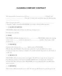 Cleaning Service Templates Contract For Cleaning Services Template Sample Forms Free Documents