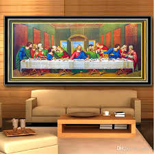 2019 cross stitch 5d diamond painting diy embroidery kits full drill special shaped paintings wall stickers art decor last supper theme 54ym3 jj from sd002