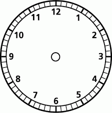 Blank Clock Faces Clipart Best