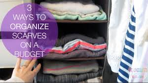ORGANIZING BUDGET HACKS you need to know | 3 Easy ways to organize scraves!