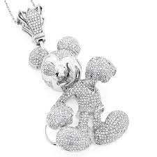 iced out diamond mickey mouse pendant 580ct 10k gold wh jpg