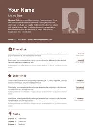 Open Office Resume Template Luxury Basic Resume Template 70 Free