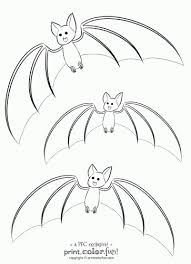 Small Picture 3 cute bats coloring page Print Color Fun