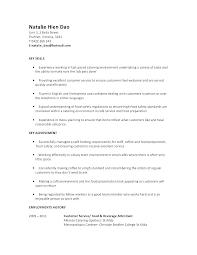 Cafe Attendant Sample Resume Magnificent Food Service Resume Objective Food Service Resume For Server Skills