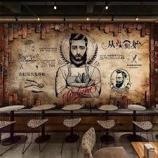 Custom wallpaper 3d mural retro barber ...