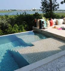 wood patio with pool. Container Swimming Pool Contemporary With Stone Trim Wood Patio  Railing