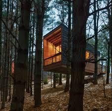 Concrete Cabin Hga Perches Cedar Clad Cabins On A Minnesota Hillside Minnesota