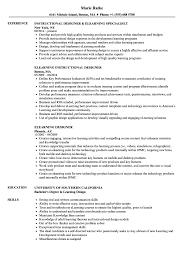Elearning Design Jobs Elearning Designer Resume Samples Velvet Jobs