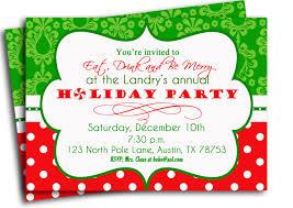 holiday party invitation wording exles
