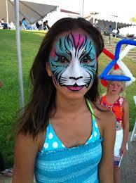 face paint exotic cat