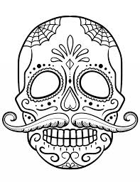 Coloring Pages Free Printable Sugar Skull Coloring Pages Fabulous