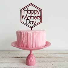 Happy Mothers Day With Hexagon Cake Topper Akudankraf