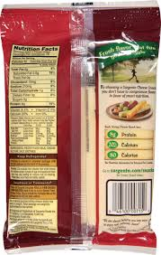 nutritional information sargento light string cheese besto