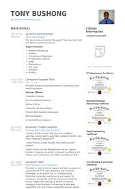 Network And Computer Systems Administrator Sample Resume Gorgeous Systems Administrator Resume Samples VisualCV Resume Samples Database