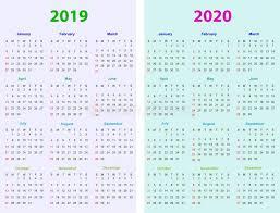 12 Months 2020 Calendar 12 Months Calendar Design 2018 2019 2020 Stock Vector