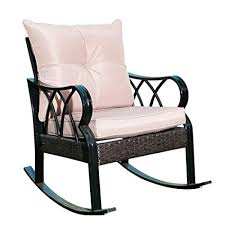 outside glider chair. Modren Glider SunLife IndoorOutside Rocking Lounge Patio Rocker Glider Chair With Thick  Tan Cushion With Outside H