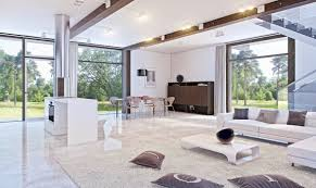modern small house interior design impressive living. Impressive Living Room Decorating Luxury Marble Floor White Glass Accents Modern Small House Interior Design C