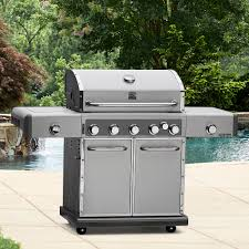 Unique Kitchenaid 5 Burner Gas Grill Kenmore Elite 700 Series Dual In Design