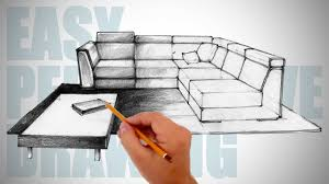 Image Sketch Youtube How To Draw Furniture Easy Perspective Drawing 12 Youtube