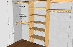 Standard Closet Rod Height Amazing Closet Shelving Layout Design THISisCarpentry