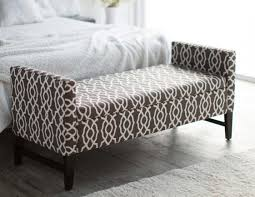 end of bed storage bench. Full Size Of End The Storage Bench With Brown Geometric Design Home Wood Outstanding Photo Bed A