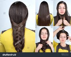 Self Hair Style simple braid hairstyle tutorial plait hairstyle stock photo 8864 by wearticles.com