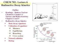 1 3 1 chem 702 lecture 6 radioactive decay kinetics outline readings modern nuclear chemistry