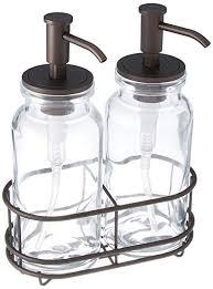 Amazon.com: mDesign Double Liquid Hand Soap Glass Dispenser Pump ...