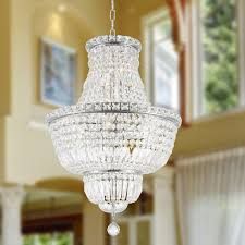 amazing home design minimalist chrome crystal chandelier on french empire collection 12 light finish
