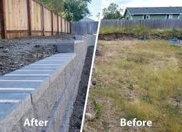 ajb built this retaining wall in the meadows a subdivision in lacey