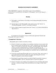 Photography Contract Template | Shatterlion.info