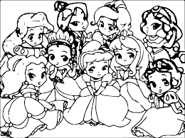 Princes Coloring Pages Cute Princess Coloring Pages And Disney